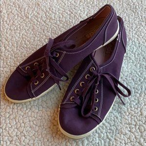 Keds Lace Up Canvas Low Top Sneakers Purple 7.5